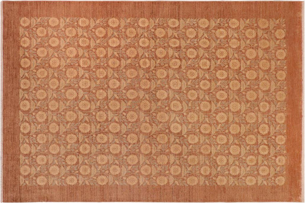 "A01163,10' 1"" X 13'10"",Modern     ,10' x 14',Taupe,LT. BROWN,Hand-knotted                  ,Pakistan   ,100% Wool  ,Rectangle  ,652671132698"