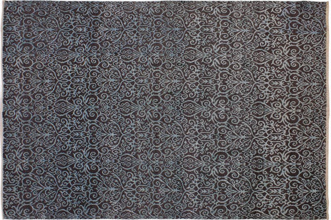 "A11642, 7'11"" X 10' 4"",Modern                        ,8' x 10',Brown,LT. GREEN,Hand-knotted                  ,Afghanistan,Wool&silk  ,Rectangle  ,652671208553"