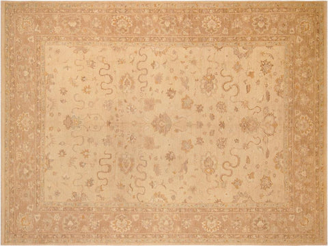 handmade Traditional Kafkaz Tan Brown Hand Knotted RECTANGLE 100% WOOL area rug 10' x 14'