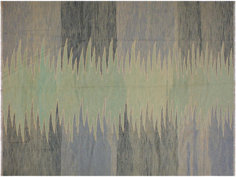 "A11664, 8' 8"" X 11'11"",Geometric                     ,9' x 12',Grey,LT. GREEN,Hand-woven                    ,Pakistan   ,100% Wool  ,Rectangle  ,652671214158"