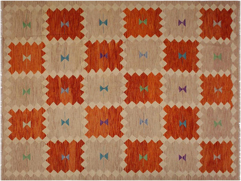 "A11682, 8' 0"" X  9' 8"",Geometric                     ,8' x 10',Brown,BEIGE,Hand-woven                    ,Pakistan   ,100% Wool  ,Rectangle  ,652671214318"