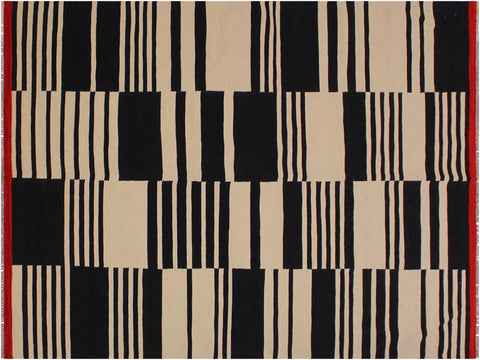 "A11696, 5' 7"" X  7'10"",Geometric                     ,6' x 8',Natural,BLACK,Hand-woven                    ,Pakistan   ,100% Wool  ,Rectangle  ,652671214424"