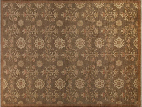 "A01169,10' 0"" X 13' 8"",Modern     ,10' x 14',Brown,LT. BROWN,Hand-knotted                  ,Pakistan   ,100% Wool  ,Rectangle  ,652671132759"