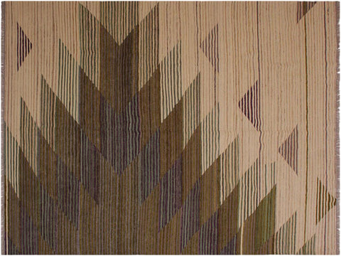 "A11703, 6' 7"" X  7'11"",Geometric                     ,6' x 8',Natural,BROWN,Hand-woven                    ,Pakistan   ,100% Wool  ,Rectangle  ,652671214486"