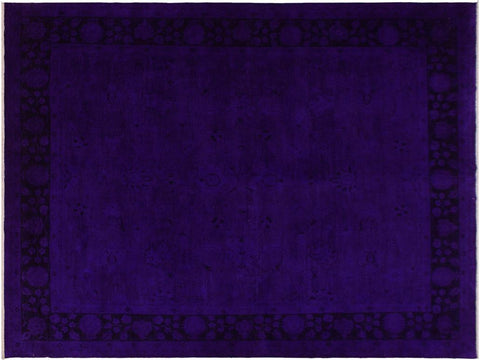 "A11712, 7'10"" X  9' 8"",Over Dyed                     ,8' x 10',Blue,PURPLE,Hand-knotted                  ,Pakistan   ,100% Wool  ,Rectangle  ,652671214561"
