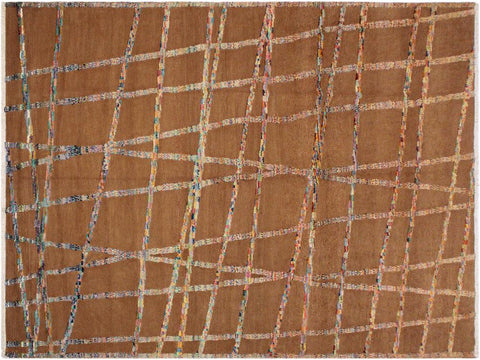"A11714, 7'10"" X 10' 2"",Modern                        ,8' x 10',Brown,IVORY,Hand-woven                    ,Pakistan   ,100% Wool  ,Rectangle  ,652671214578"