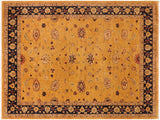 "A01171,10' 1"" X 13' 3"",Traditional,10' x 14',Gold,BLUE,Hand-knotted                  ,Pakistan   ,100% Wool  ,Rectangle  ,652671132773"