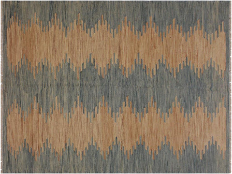 "A11742, 5' 8"" X  7'11"",Geometric                     ,6' x 8',Grey,BLUE,Hand-woven                    ,Pakistan   ,100% Wool  ,Rectangle  ,652671214844"