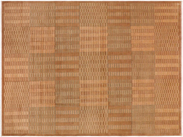"A01175,10' 0"" X 13' 4"",Modern     ,10' x 14',Taupe,LT. BROWN,Hand-knotted                  ,Pakistan   ,100% Wool  ,Rectangle  ,652671132810"