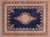 handmade Vintage Vintage Drk. Blue Brown Hand Knotted RECTANGLE 100% WOOL area rug 10x13'