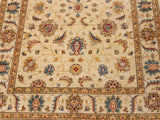 "A11770, 4'11"" X  6' 5"",Traditional                   ,5' x 6',Natural,BLUE,Hand-knotted                  ,Pakistan   ,100% Wool  ,Rectangle  ,652671215124"