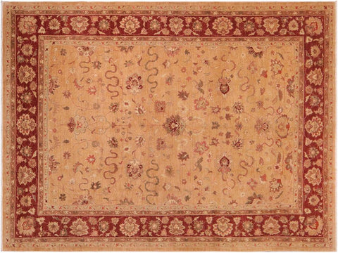 handmade Traditional Kafkaz Gold Red Hand Knotted RECTANGLE 100% WOOL area rug 10' x 15'