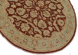 "A11800 7'10"" X  8' 0""Traditional                   8x8'BrownGREENHand-knotted                  Pakistan   100% Wool  Round      652671215414"