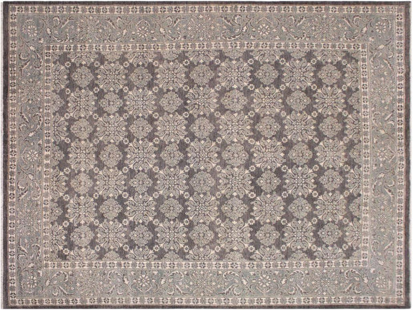 handmade Traditional Kafkaz Grey Green Hand Knotted RECTANGLE 100% WOOL area rug 8x10'