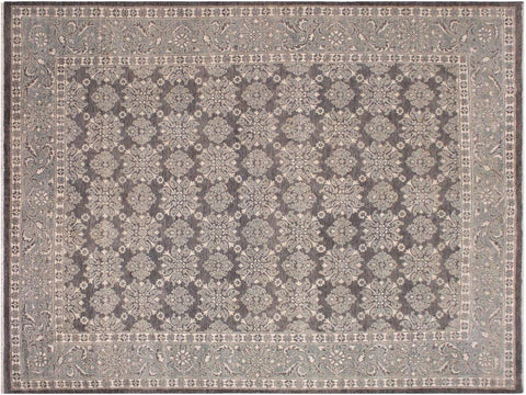 "A11814, 8' 0"" X  9' 9"",Traditional                   ,8' x 10',Grey,GREEN,Hand-knotted                  ,Pakistan   ,100% Wool  ,Rectangle  ,652671215544"