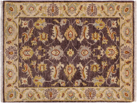 "A11844, 2' 0"" X  3' 0"",Traditional                   ,2' x 3',Brown,IVORY,Hand-knotted                  ,Pakistan   ,100% Wool  ,Rectangle  ,652671215834"