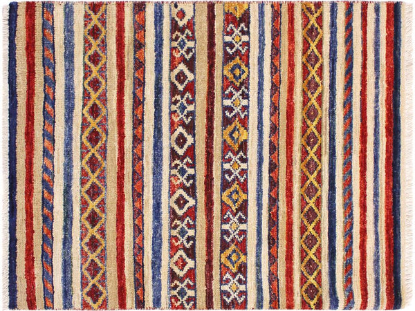 "A11845, 2' 1"" X  2'11"",Geometric                     ,2' x 3',Tan,BLUE,Hand-knotted                  ,Pakistan   ,100% Wool  ,Rectangle  ,652671215841"