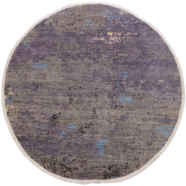 "A11869, 7'10"" X  8' 0"",Modern                        ,8' x 8',Grey,BLUE,Hand-knotted                  ,Pakistan   ,100% Wool  ,Round      ,652671216022"