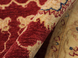 "A11888, 3' 0"" X  4' 8"",Traditional                   ,3' x 5',Red,IVORY,Hand-knotted                  ,Pakistan   ,100% Wool  ,Rectangle  ,652671216213"