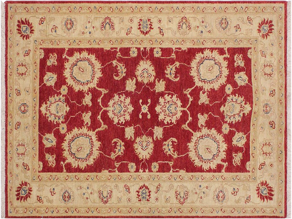 "A11889, 3' 0"" X  4' 8"",Traditional                   ,3' x 5',Red,IVORY,Hand-knotted                  ,Pakistan   ,100% Wool  ,Rectangle  ,652671216220"