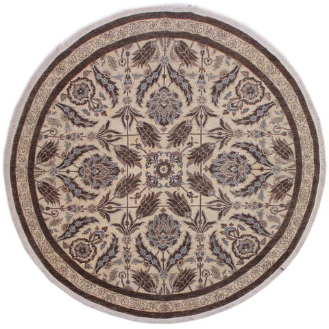 "A11914, 9'11"" X  9'11"",Traditional                   ,10' x 10',Natural,BROWN,Hand-knotted                  ,Pakistan   ,100% Wool  ,Round      ,652671216442"