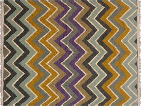 "A11921, 4' 9"" X  6' 6"",Geometric                     ,5' x 7',Green,PURPLE,Hand-woven                    ,Pakistan   ,100% Wool  ,Rectangle  ,652671216510"