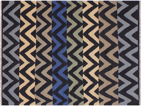"A11923, 5' 0"" X  7' 0"",Geometric                     ,5' x 7',Black,IVORY,Hand-woven                    ,Pakistan   ,100% Wool  ,Rectangle  ,652671216534"