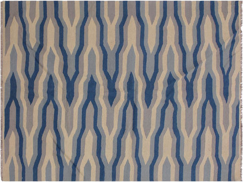 "A11956, 4'11"" X  7' 0"",Geometric                     ,5' x 7',Natural,BLUE,Hand-woven                    ,Pakistan   ,100% Wool  ,Rectangle  ,652671216855"