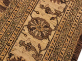 "A01196, 9'10"" X 12'10"",Transitional                  ,10' x 14',Brown,IVORY,Hand-knotted                  ,Pakistan   ,100% Wool  ,Rectangle  ,652671133022"