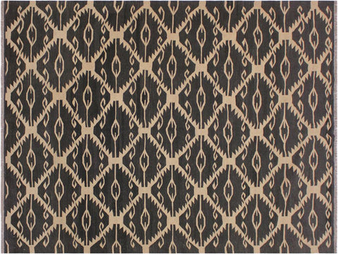 "A11978, 5' 7"" X  8' 1"",Geometric                     ,6' x 8',Black,IVORY,Hand-woven                    ,Pakistan   ,100% Wool  ,Rectangle  ,652671217050"