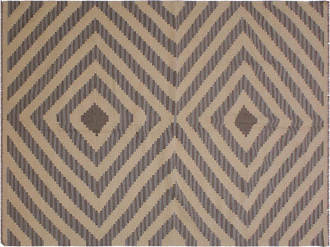 "A11982, 5' 1"" X  7' 2"",Geometric                     ,5' x 7',Natural,GREY,Hand-woven                    ,Pakistan   ,100% Wool  ,Rectangle  ,652671217098"