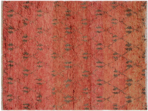 "A11996, 5' 3"" X  8' 3"",Modern                        ,5' x 8',Rust,BROWN,Hand-knotted                  ,Pakistan   ,100% Wool  ,Rectangle  ,652671217210"