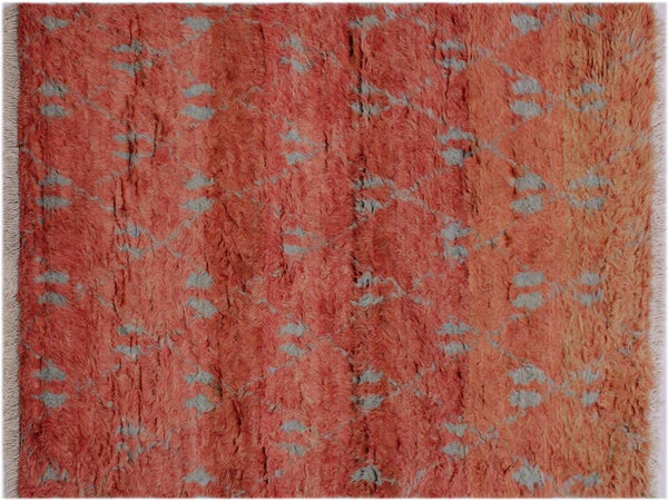 "A11998, 4' 1"" X  6' 2"",Modern                        ,4' x 6',Rust,GREY,Hand-knotted                  ,Pakistan   ,100% Wool  ,Rectangle  ,652671217234"