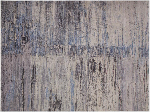 "A12017,10' 0"" X 14' 2"",Traditional                   ,10' x 14',Grey,BLUE,Hand-knotted                  ,Pakistan   ,100% Wool  ,Rectangle  ,652671217395"