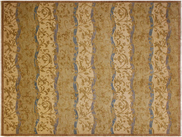 "A01212,10' 1"" X 13' 4"",Modern                        ,10' x 14',Green,BLUE,Hand-knotted                  ,Pakistan   ,100% Wool  ,Rectangle  ,652671133176"