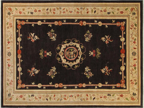 "A01217, 9'10"" X 13'11"",Modern     ,10' x 14',Brown,IVORY,Hand-knotted                  ,Pakistan   ,100% Wool  ,Rectangle  ,652671133213"