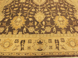 "A01219,10 2"" X 13 9"",Traditional                   ,10x14,Brown,GOLD,Hand-knotted                  ,Pakistan   ,100% Wool  ,Rectangle  ,652671133237"