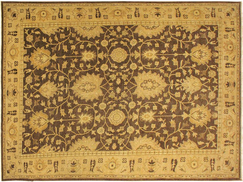 "A01219,10' 2"" X 13' 9"",Traditional                   ,10' x 14',Brown,GOLD,Hand-knotted                  ,Pakistan   ,100% Wool  ,Rectangle  ,652671133237"