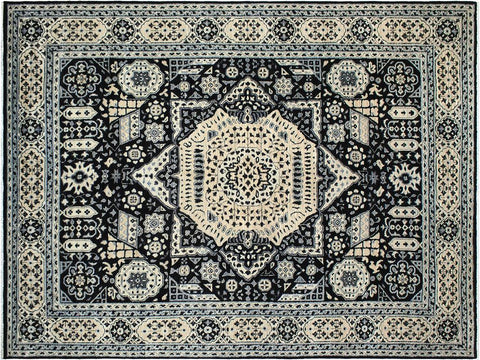 handmade Geometric Mamluk Black Beige Hand Knotted RECTANGLE 100% WOOL area rug 9 x12 Hand knotted indoor mamluk wool area rug made for all rooms with high quality wool in rich color pallet handmade by skilled artisans in geometric, tribal design with center medallion is known for quality wool and affordable price. Oriental hand made rug offered at cheap discount for any decor one of a kind Mamluk Rug