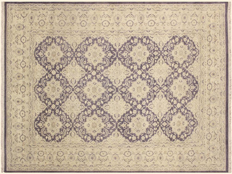 "A01228, 9'11"" X 14' 2"",Transitiona,10' x 14',Purple,LT. GRAY,Hand-knotted                  ,Pakistan   ,Wool&silk  ,Rectangle  ,652671133329"