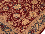 "A01232,10' 2"" X 13'10"",Traditional                   ,10' x 14',Burgundy,TEAL,Hand-knotted                  ,Pakistan   ,100% Wool  ,Rectangle  ,652671133367"