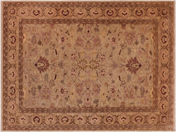 "A01233,10' 0"" X 13'10"",Traditional                   ,10' x 14',Silver,LT. BROWN,Hand-knotted                  ,Pakistan   ,100% Wool  ,Rectangle  ,652671133374"