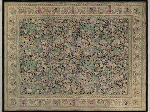 "A01250,10' 0"" X 14' 3"",Traditional                   ,10' x 14',Black,LT. TAN,Hand-knotted                  ,Pakistan   ,100% Wool  ,Rectangle  ,652671133534"