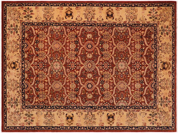 "A01259, 9'10"" X 14' 0"",Transitiona,10' x 14',Rust,GOLD,Hand-knotted                  ,Pakistan   ,100% Wool  ,Rectangle  ,652671133626"
