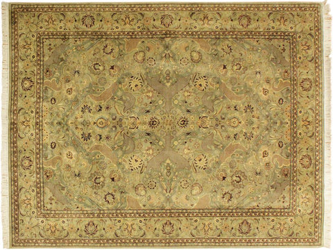 "A01261,10' 1"" X 14' 3"",Traditional                   ,10' x 14',Green,LT. GREEN,Hand-knotted                  ,Pakistan   ,100% Wool  ,Rectangle  ,652671133640"