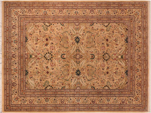"A01265,10' 2"" X 14' 7"",Traditional                   ,10' x 14',Gold,RED,Hand-knotted                  ,Pakistan   ,100% Wool  ,Rectangle  ,652671133688"