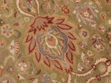 "A01277,10 2"" X 13 9"",Traditional                   ,10x14,Green,BROWN,Hand-knotted                  ,Pakistan   ,100% Wool  ,Rectangle  ,652671133800"