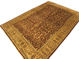 "A01279, 911"" X 14 3"",Traditional                   ,10x14,Gold,TAN,Hand-knotted                  ,Pakistan   ,100% Wool  ,Rectangle  ,652671133824"