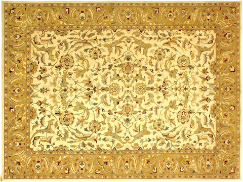 "A01288, 9'10"" X 14' 7"",Traditional                   ,10' x 14',Natural,GOLD,Hand-knotted                  ,Pakistan   ,100% Wool  ,Rectangle  ,652671133916"