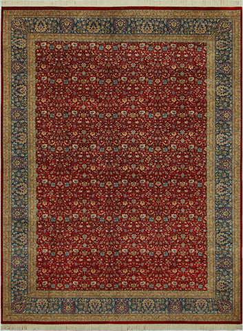 "A01292,10' 1"" X 13'11"",Traditional,10' x 14',Red,TEAL,Hand-knotted                  ,Pakistan   ,100% Wool  ,Rectangle  ,652671133954"